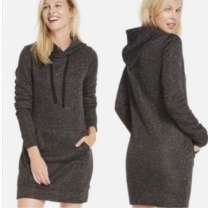 Fabletics Yukon Charcoal Gray Hoodie Sweater Dress